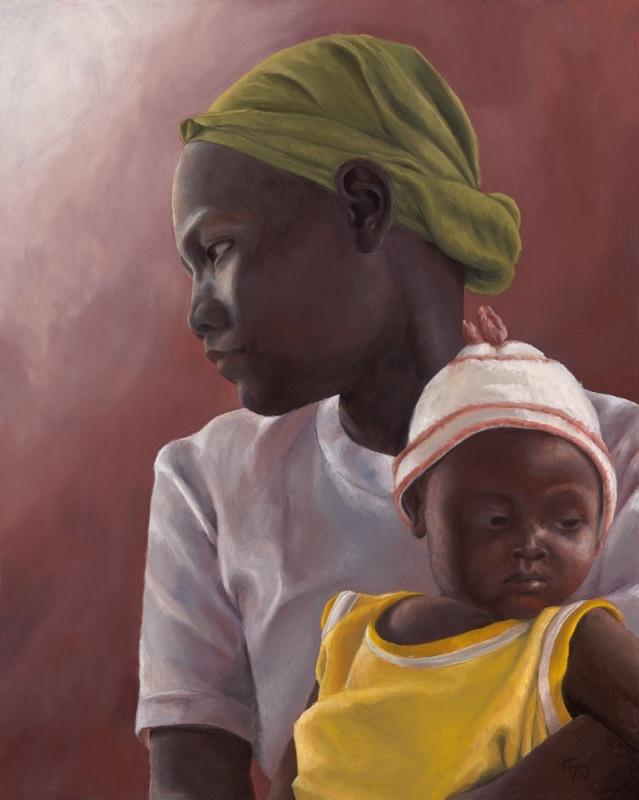 Daba Woman and Child