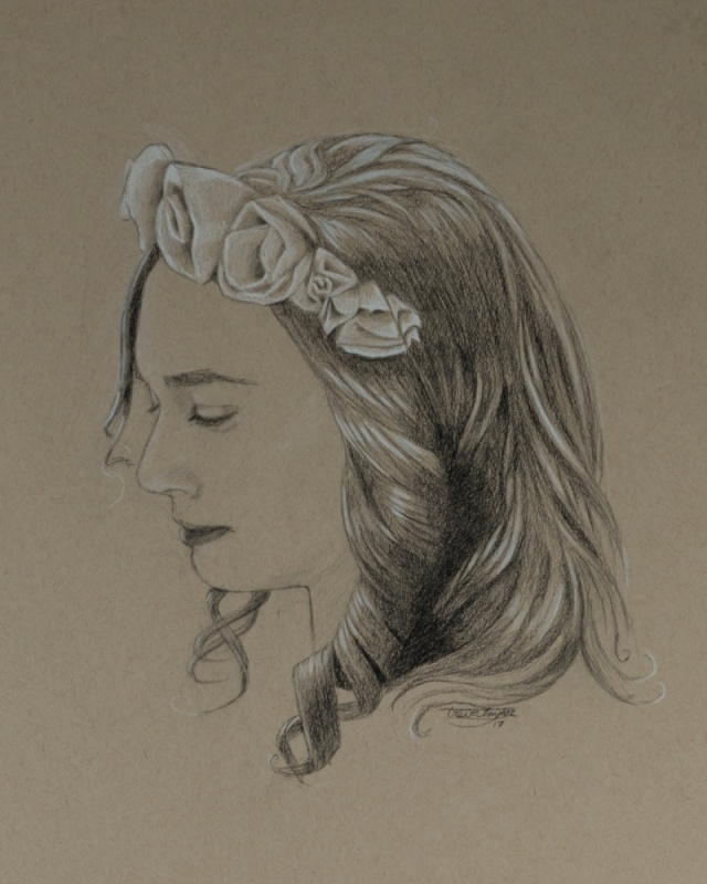 the girl with flowers in her hair