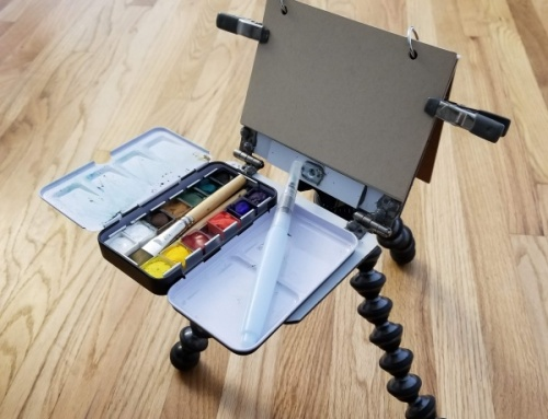Ultralight Backpacking Sketch Easel